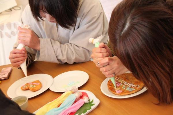 絵描き煎餅体験